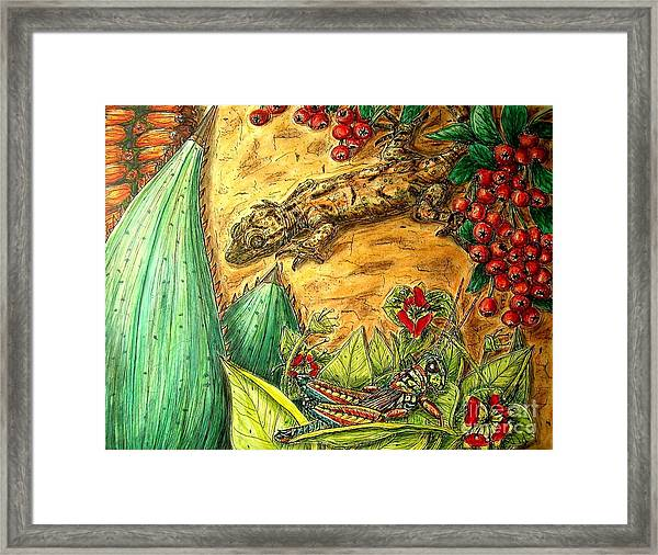 Camouflage...is It Working? Framed Print