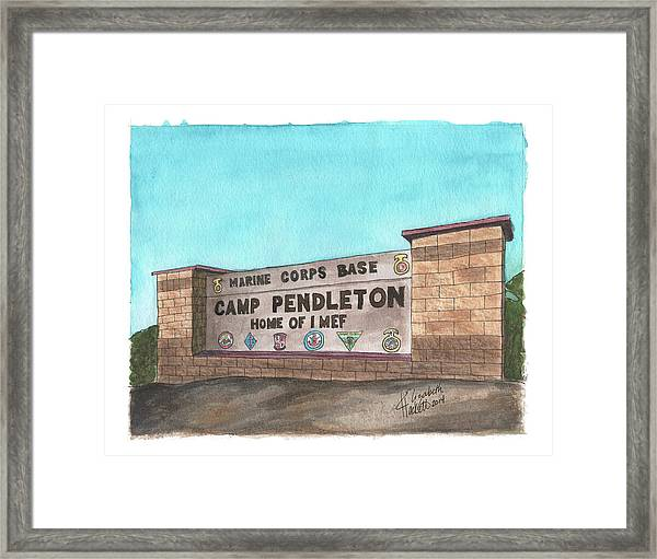 Camp Pendleton Welcome Framed Print