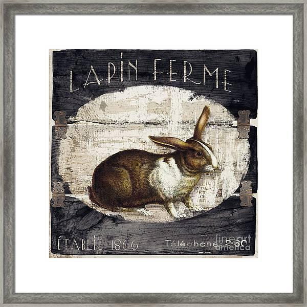 Campagne Iv Rabbit Farm Framed Print
