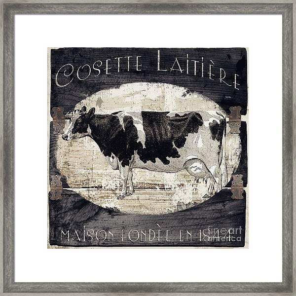 Campagne I French Cow Farm Framed Print