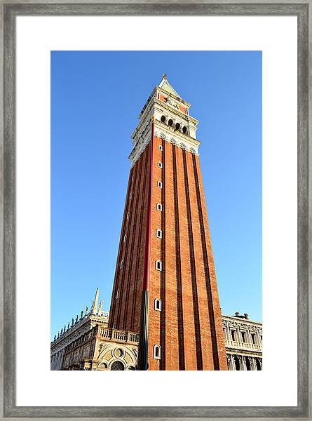 Campanile Di San Marco In Venice Framed Print