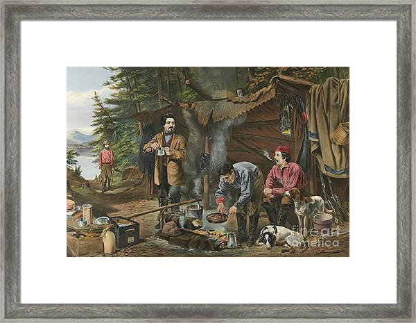 Camping In The Woods  A Good Time Coming Framed Print