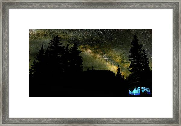 Camping Under The Milky Way 2 Framed Print