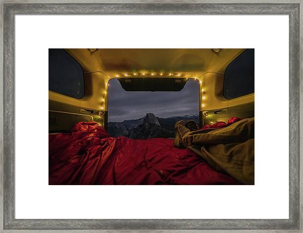 Camping Views Framed Print