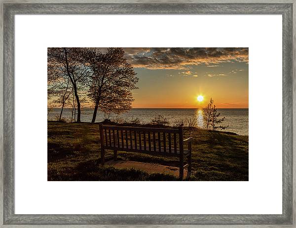 Campus Sunset Framed Print
