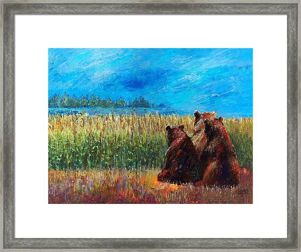 Can You See Whats Going On... Framed Print