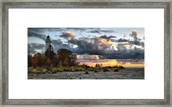 Cana Island At Dawn Framed Print