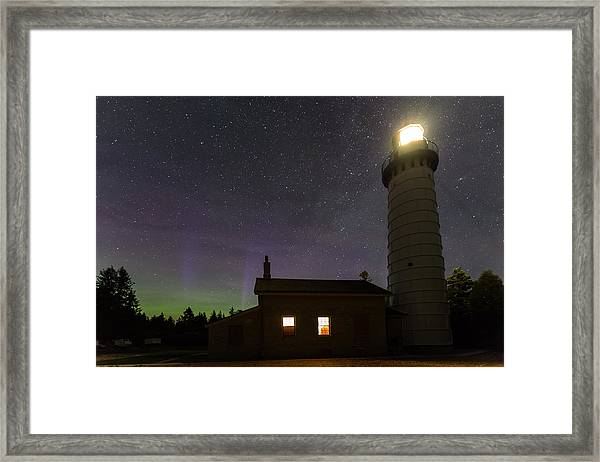 Cana Island Northern Lights Framed Print