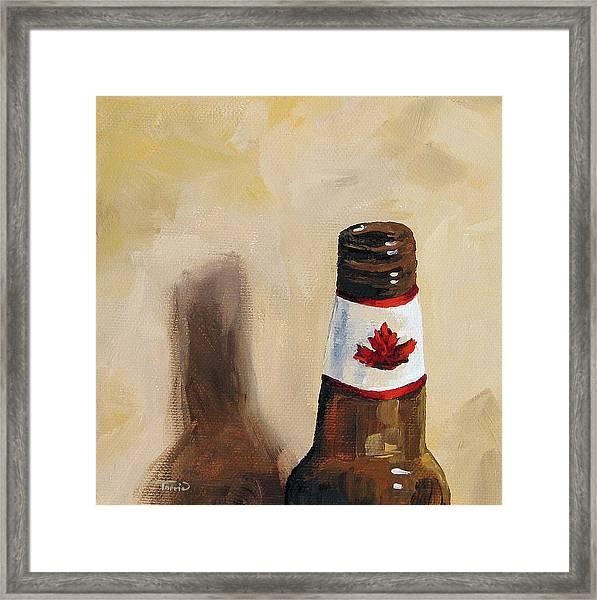 Canadian Beer Framed Print