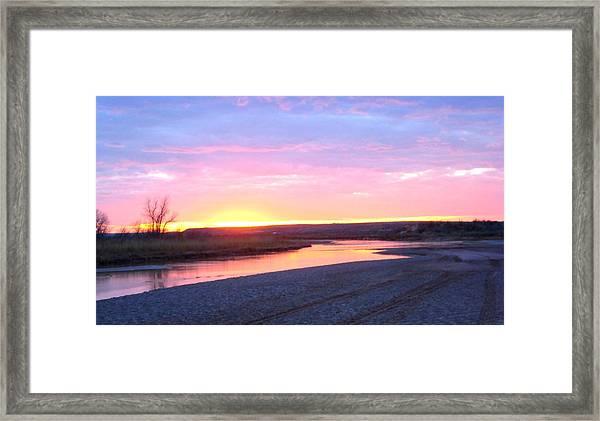 Canadian River Sunset Framed Print
