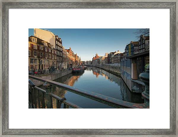 Canal From The Bridge Framed Print