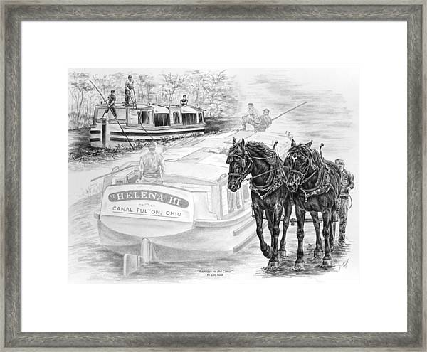 Canal Fulton Ohio Print - Journeys On The Canal Framed Print