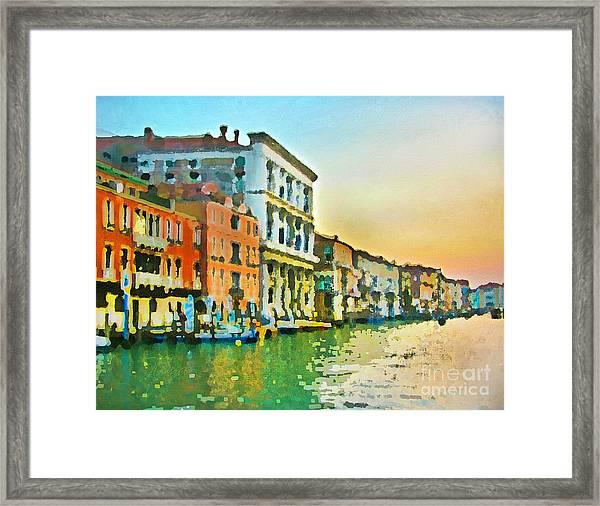 Canal Sunset - Venice Framed Print