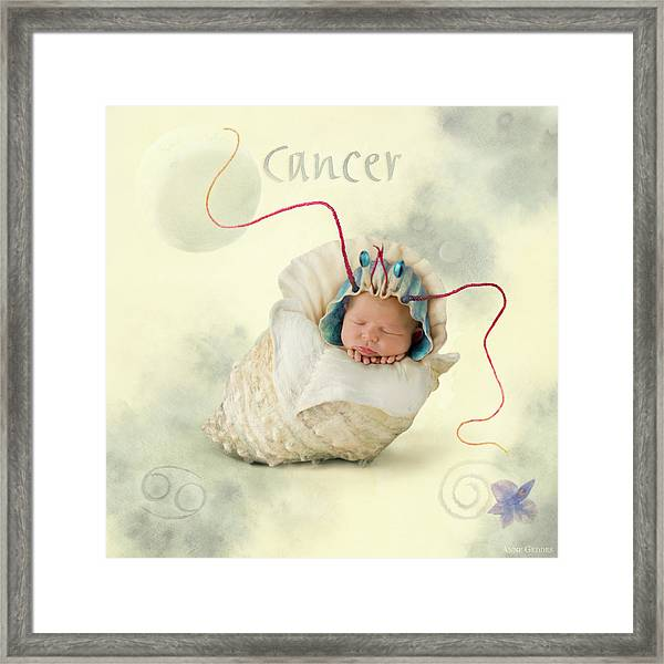 Cancer Framed Print by Anne Geddes