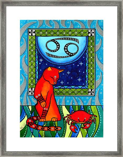 Cancer Cat Zodiac Framed Print