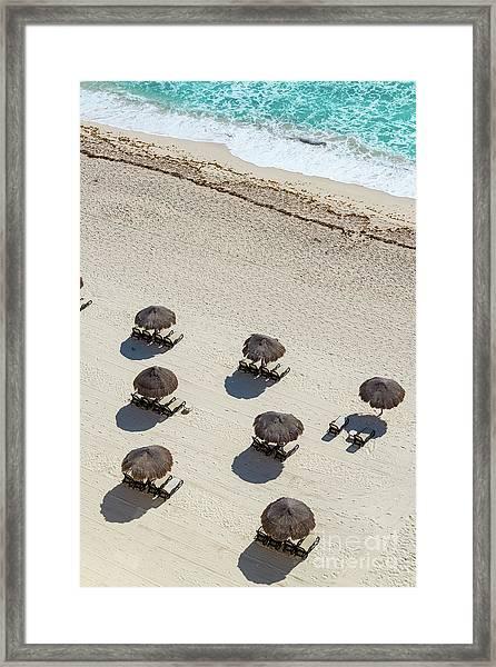 Cancun Beach View Framed Print