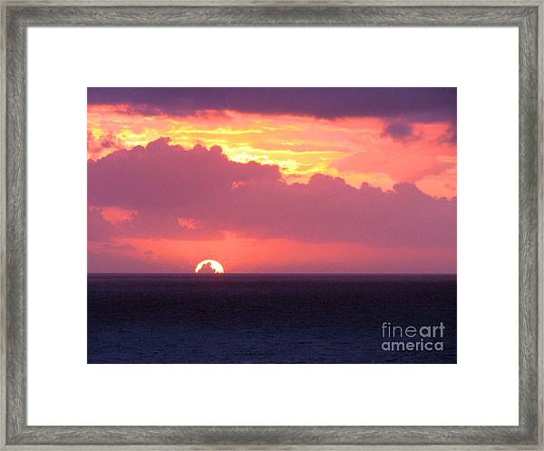 Sunrise Interrupted Framed Print