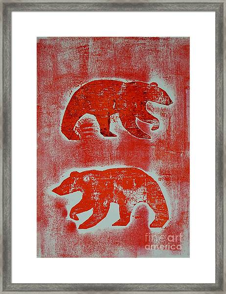 Candadian Bears Two  Framed Print