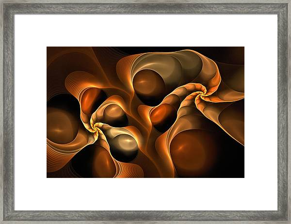 Candied Caramel Twists Framed Print