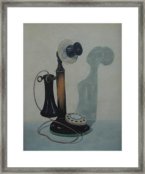 Candlestick Telephone Framed Print