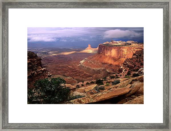 Candlestick Tower In Nature's Spotlight Framed Print