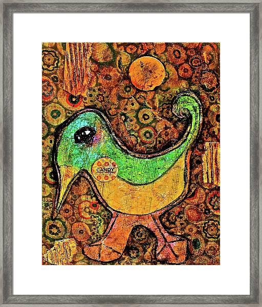 Candy Bird Framed Print
