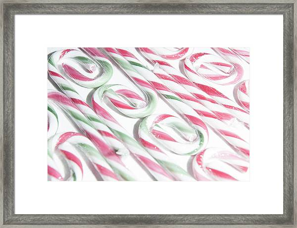 Candy Cane Swirls Framed Print