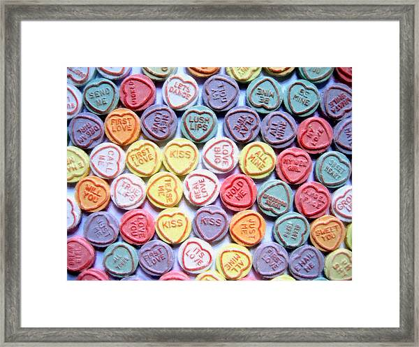 Candy Love Framed Print