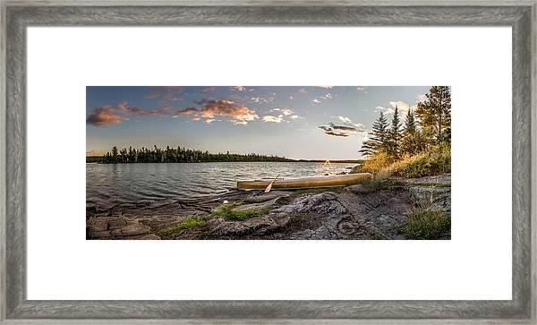 Canoe // Bwca, Minnesota  Framed Print