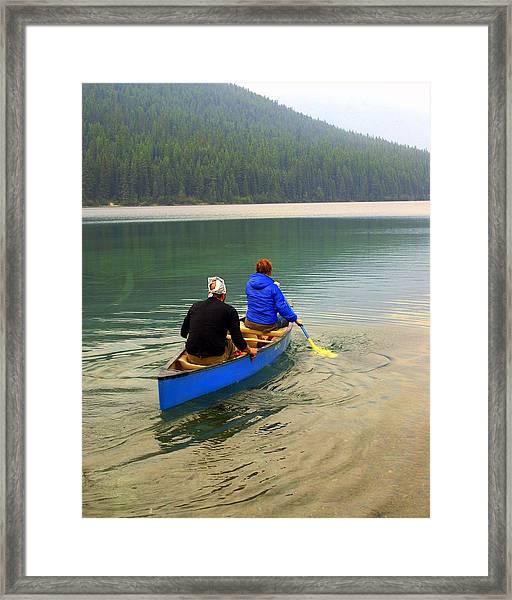 Canoeing Glacier Park Framed Print
