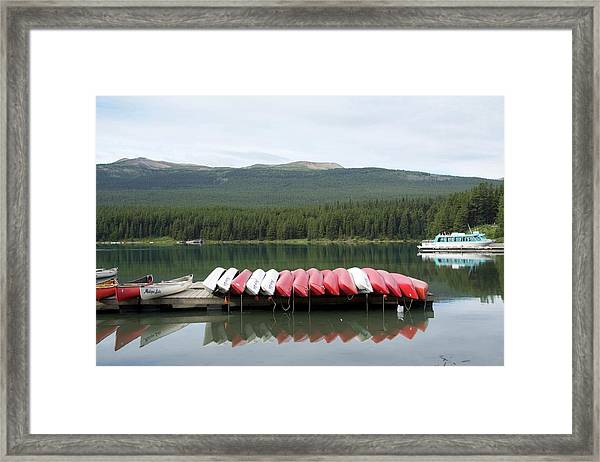 Framed Print featuring the photograph Canoes by Ralph Jones