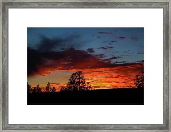 Canvas For A Setting Sun Framed Print