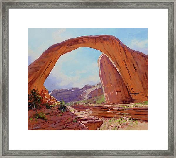 Canyon Arch Framed Print