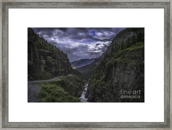 Canyon Creek Sunset Framed Print