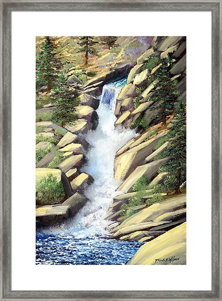 Canyon Falls Framed Print