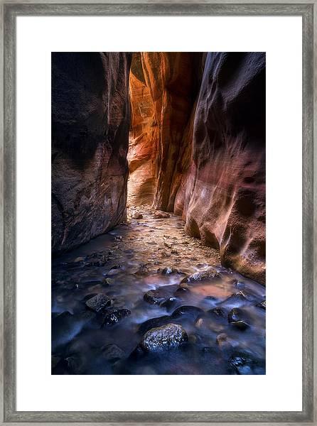 Canyon Glow Framed Print