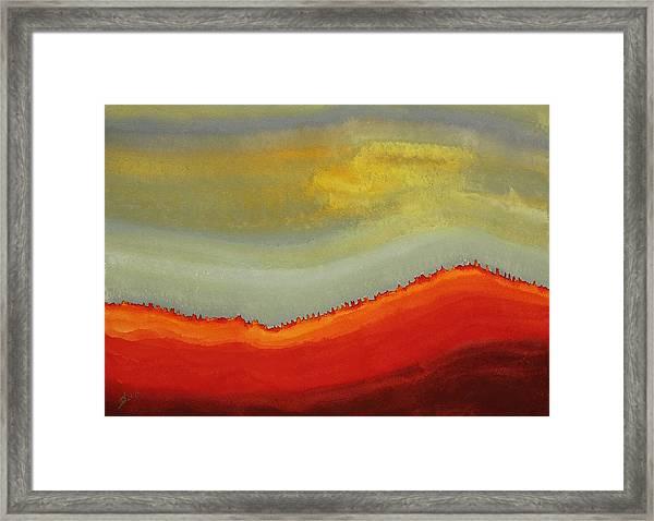 Canyon Outlandish Original Painting Framed Print