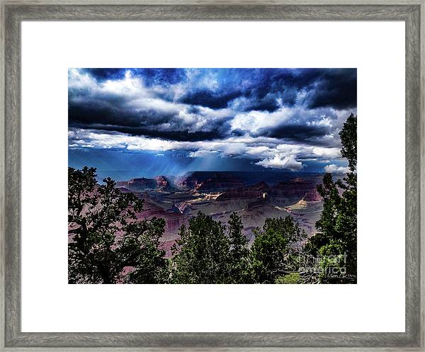 Canyon Rains Framed Print