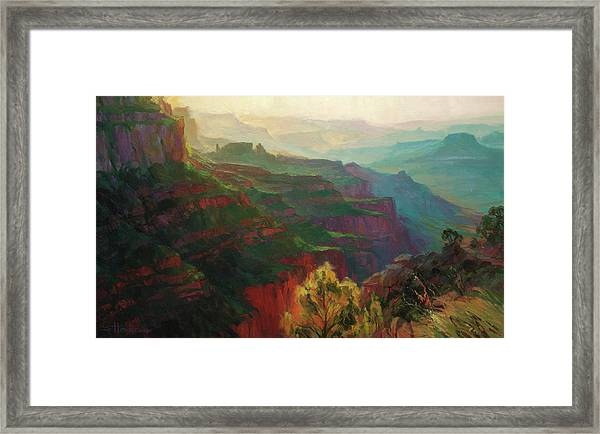 Canyon Silhouettes Framed Print