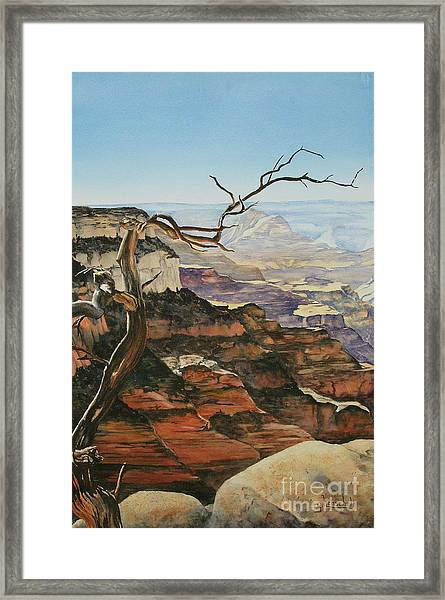 Canyon View Framed Print