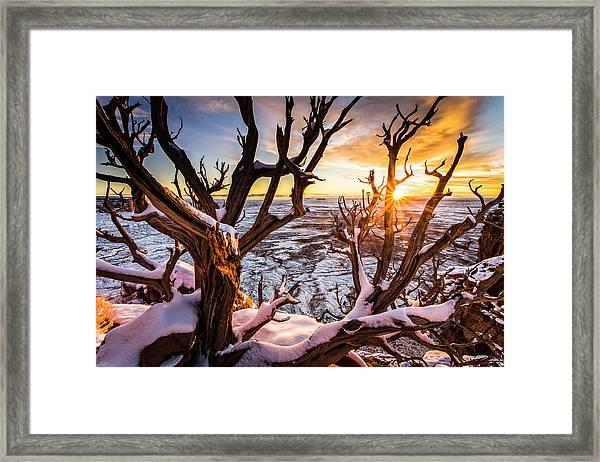 Canyonlands Winter Sunset Framed Print
