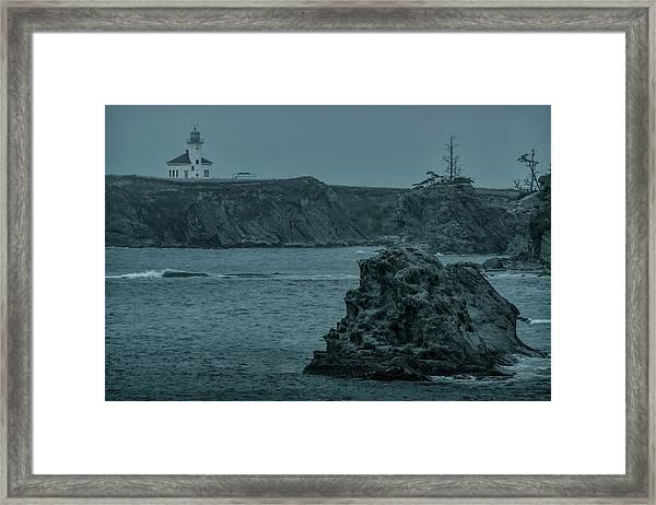 Cape Arago Light Framed Print
