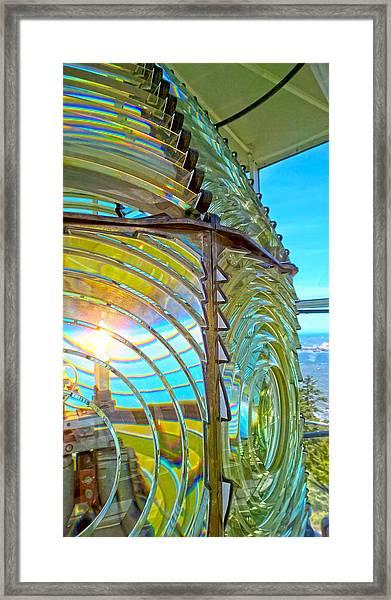 Cape Blanco Lighthouse Lens Framed Print