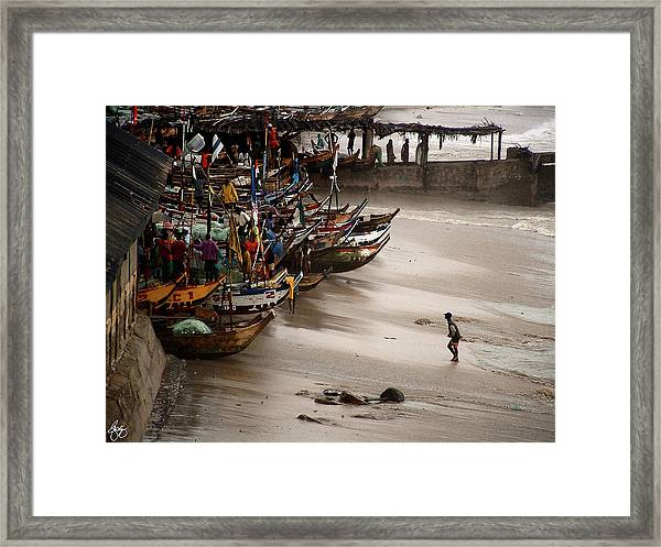 Cape Coast Storm Framed Print