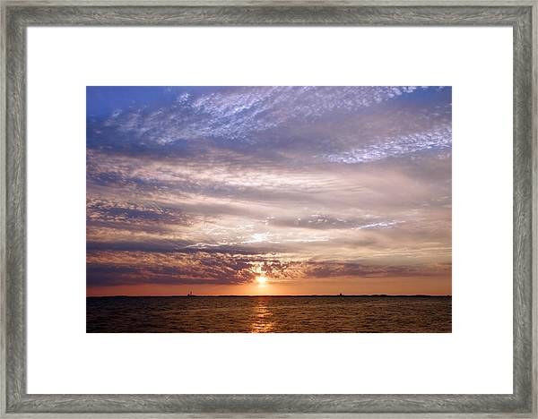 Cape Cod Bay And Sky Framed Print