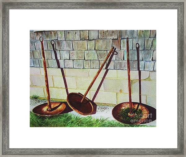 Cape Cod Buoy Anchors Framed Print