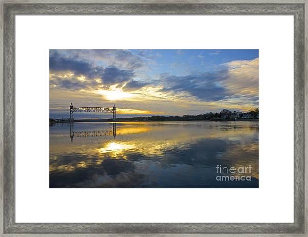 Cape Cod Canal Sunrise Framed Print