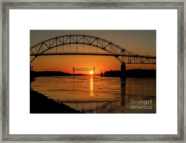 Cape Cod Canal Sunset Framed Print