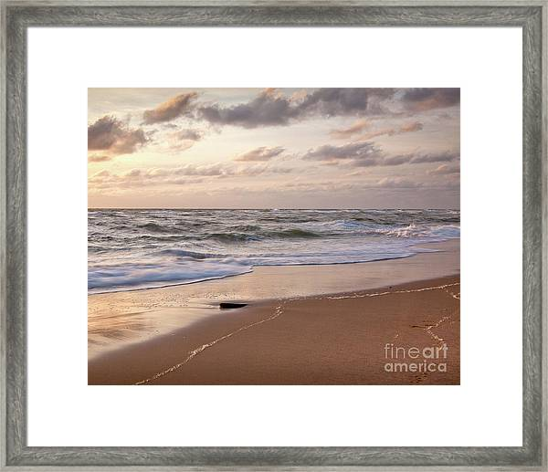 Framed Print featuring the photograph Cape Cod Sunrise 1 by Susan Cole Kelly