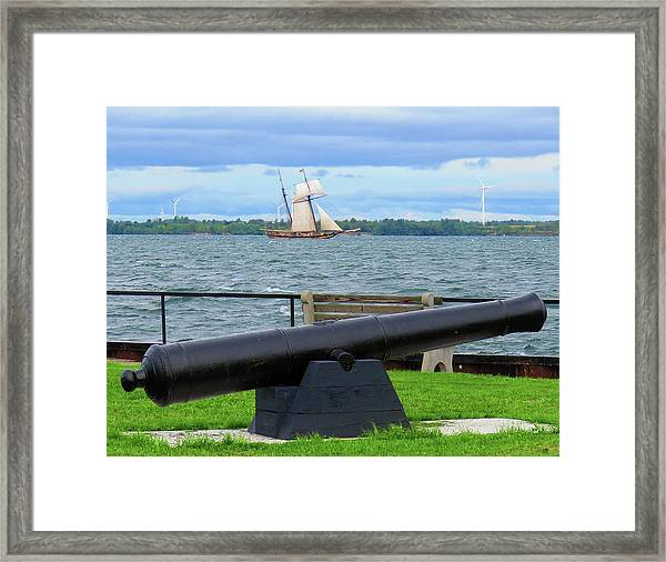 Cape Vincent Gun Framed Print